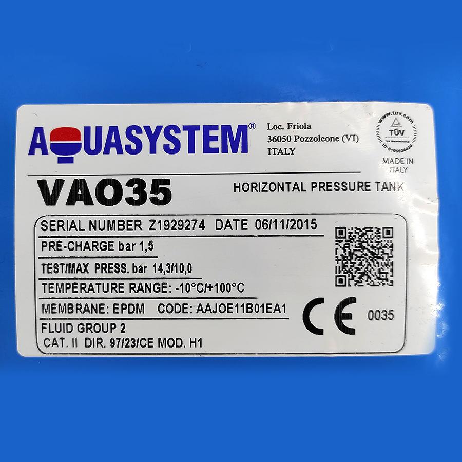 Aquasystem VAO 35 горизонтальный